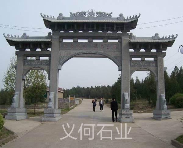 汉白玉农村石牌坊