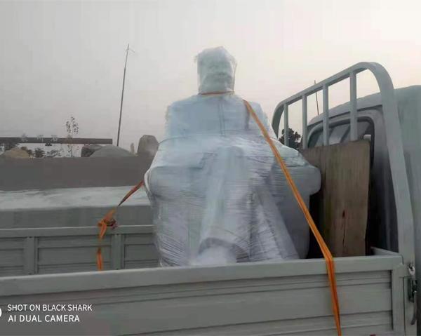 佳木斯高1.5米的坐毛主席雕像发往山东嘉祥!