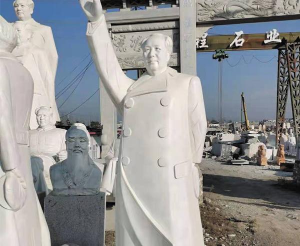 佳木斯高2.5米汉白玉毛主席雕像装车发往武汉