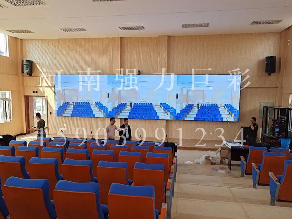 南阳某军区视频会议显示屏完工
