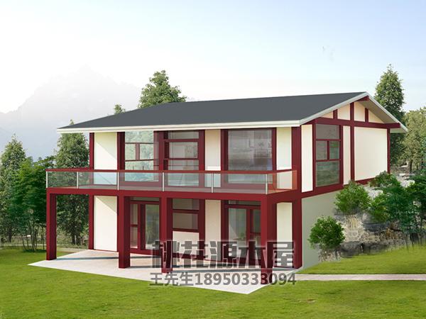中式梁柱式木屋