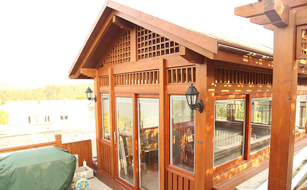 武夷山防腐木屋凉亭