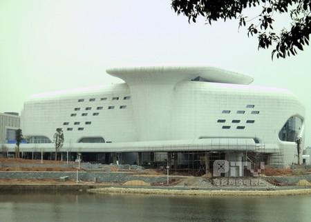 萍乡安源大剧院空气能热泵施工案例