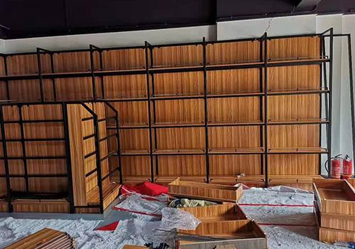 钢木货架展柜
