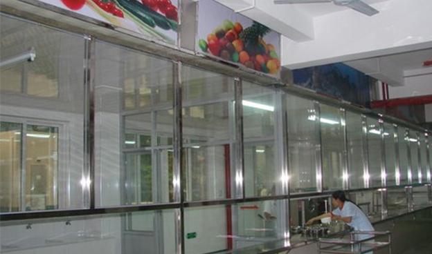 学校售餐窗口安装