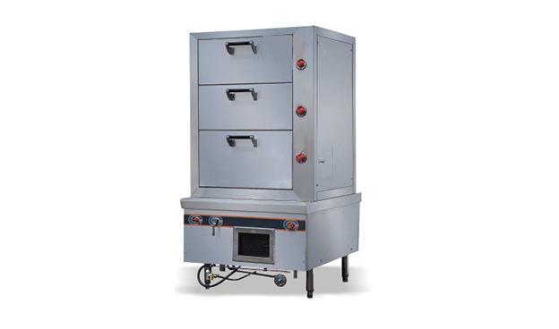 三门海鲜蒸柜炉