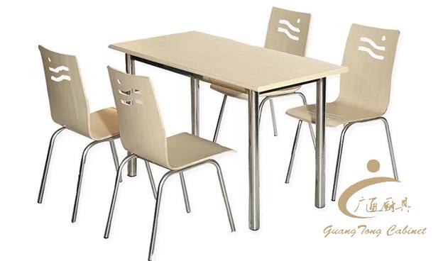 四人快餐桌子