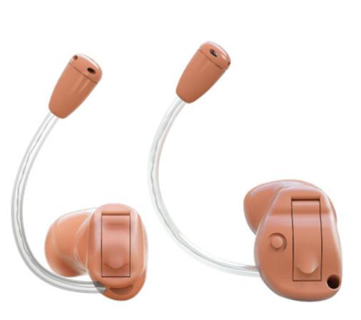 隐形的耳内式助听器