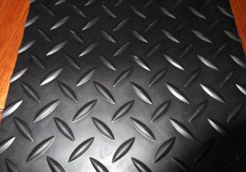 黑白橡胶板垫