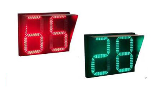 山东红黄绿三色倒计时器信号灯
