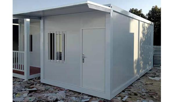 南阳住人集装箱房安装完工!