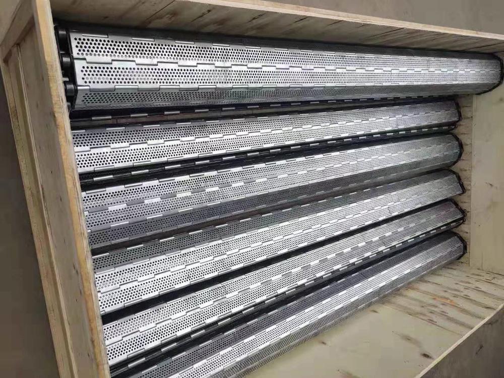 2米宽不锈钢冲孔链板 非标定制