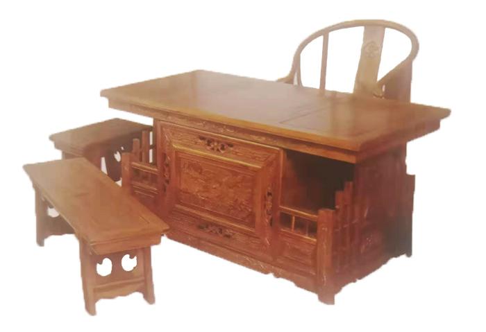 榆木茶道桌