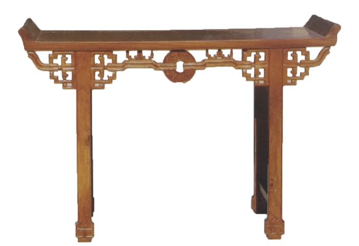 老榆木古钱供桌
