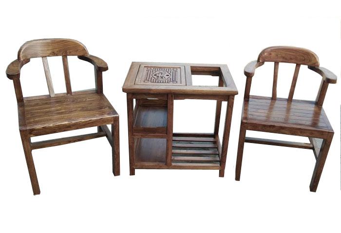 二人茶桌椅三件套