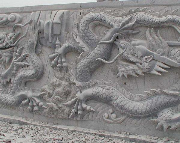 动物石雕壁画