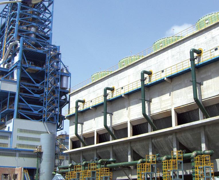 大型钢混结构冷却塔