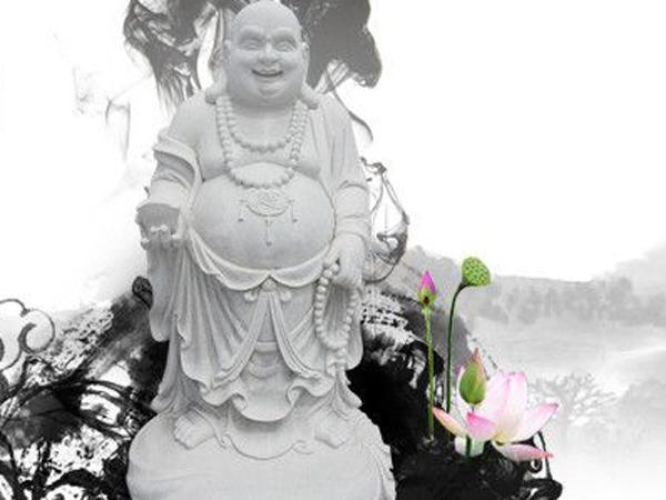 立式石雕弥勒佛