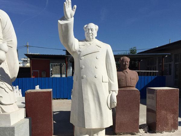 石雕人像-汉白玉石雕毛主席