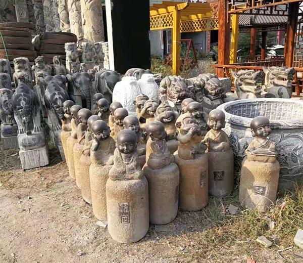 石雕工艺品-小和尚