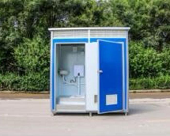 简易厕所安装现场