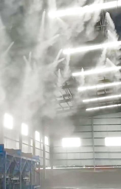 搅拌站砂石料仓喷雾降尘、降温