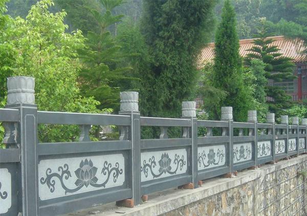 天青石石雕栏板
