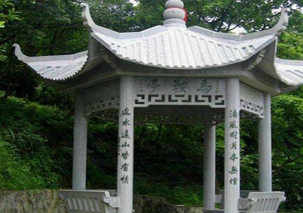 景区石雕凉亭