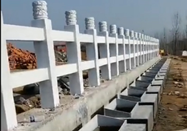 汉白玉,石栏杆完成施工