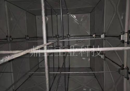 SMC玻璃钢水箱现场安装
