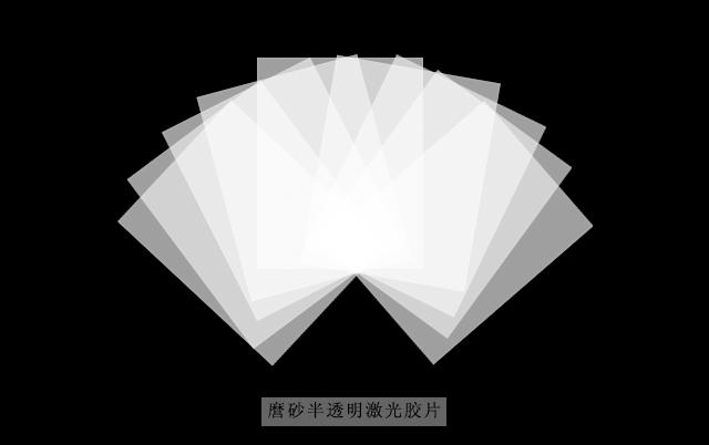 磨砂半透明激光膠片