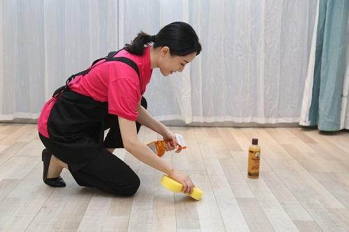 清洁木地板打蜡