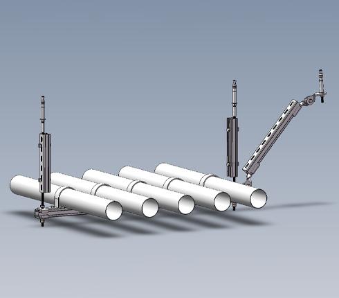 水管多管侧向抗震支架