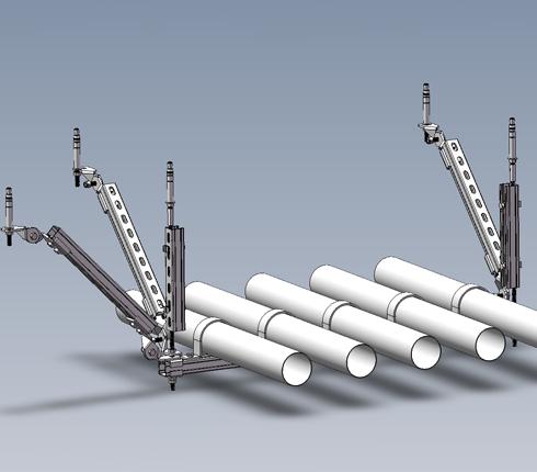 水管多管侧纵向抗震支架