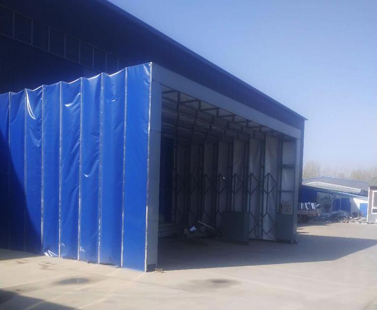 钢结构伸缩式喷漆房