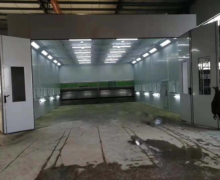 工业伸缩喷漆房