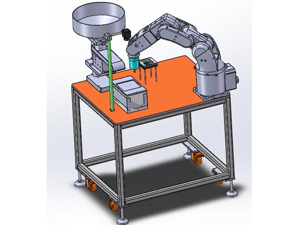 柔性供料机配合机械手臂的应用