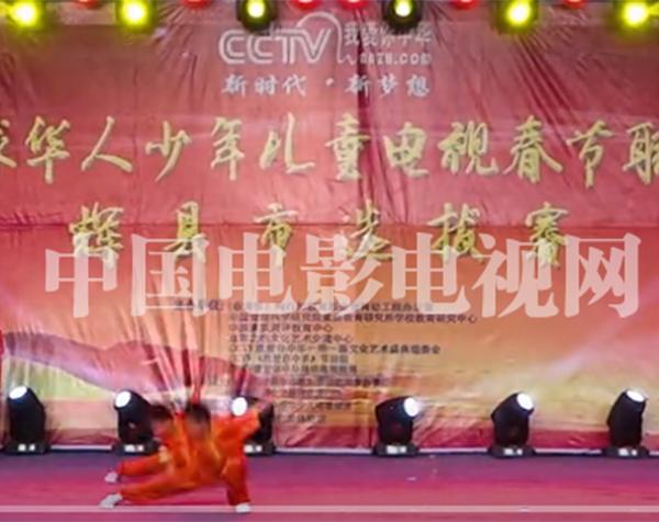 CCTV我爱你中华2019全球少年儿童电视春节联欢晚会辉县市喜文武馆选送节目《功夫》