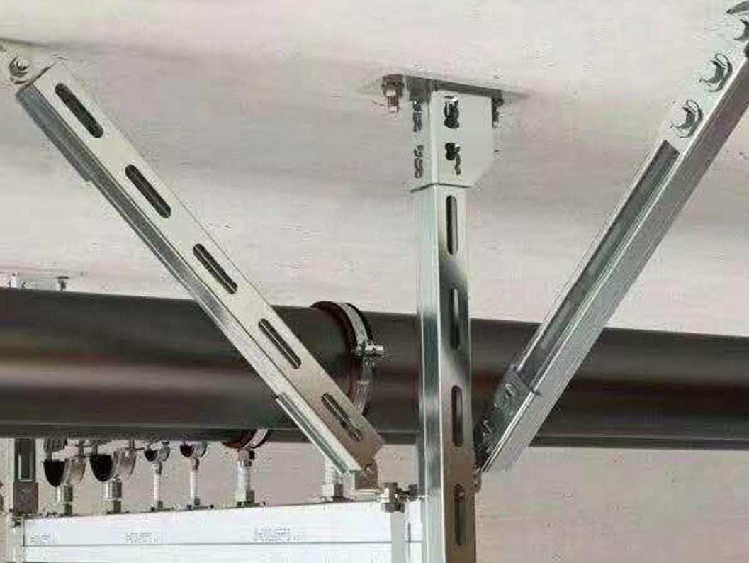 抗震支架附件的地脚螺栓分析。