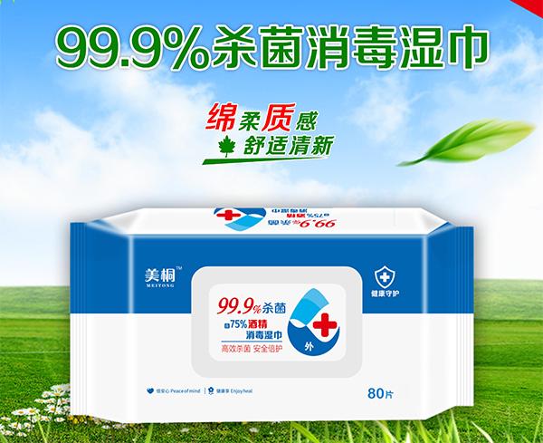 99.9%杀菌消毒湿巾