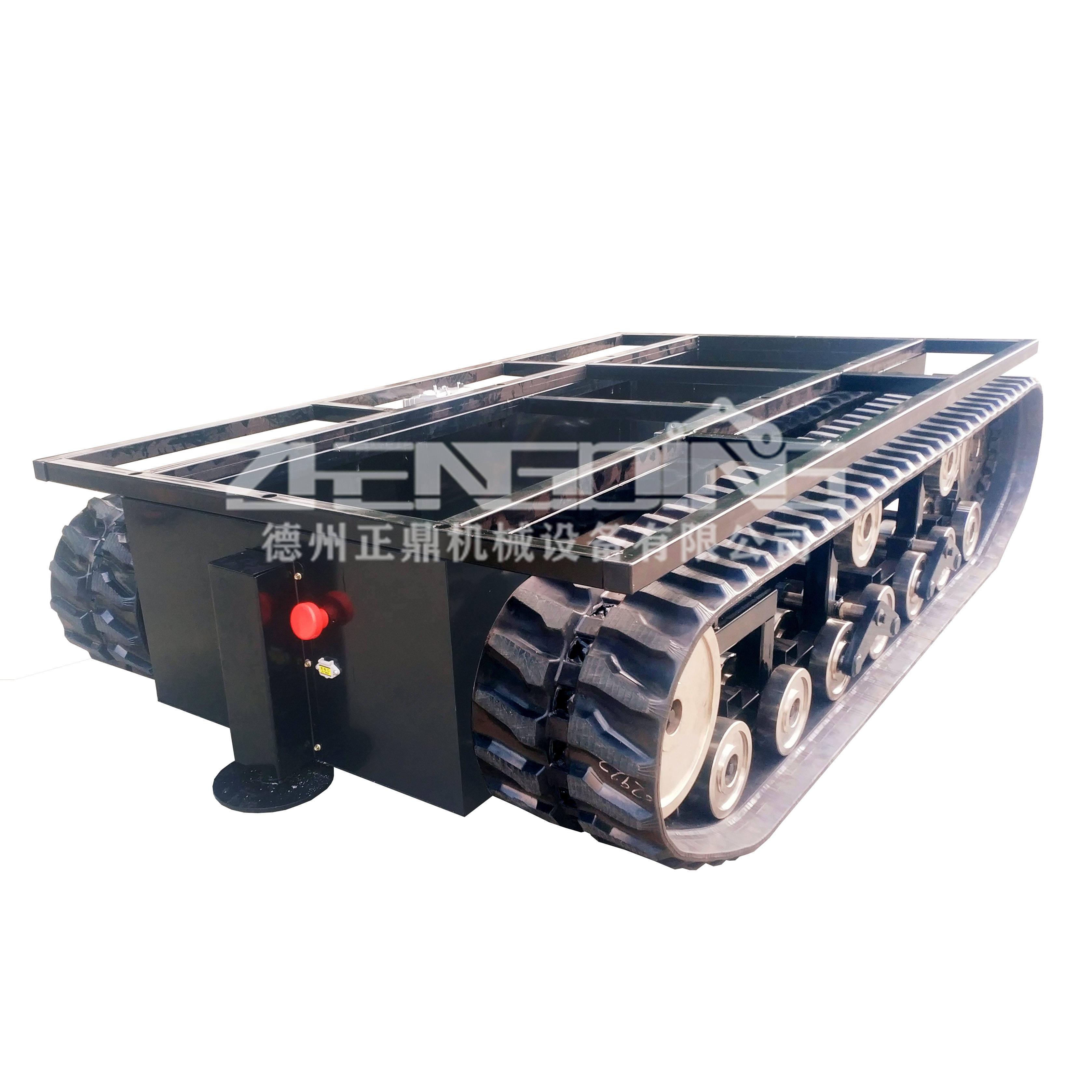 橡胶履带底盘多适用于小型轻工业和小型工程机械行业。