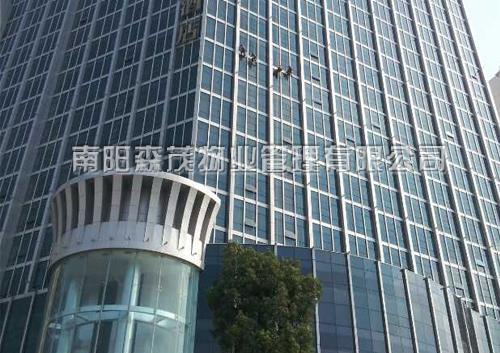 南阳中泰豪生大酒店外墙清洗、石材养护工程