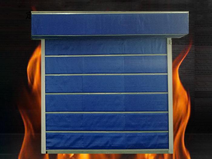 无机折叠提升式特级防火卷帘门