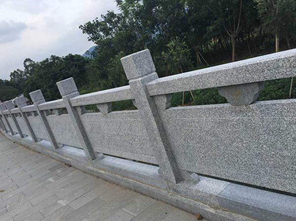 芝麻灰石雕栏杆