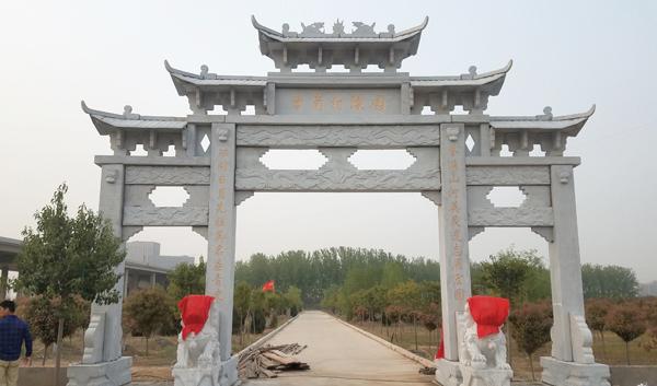 南阳农村石雕牌坊厂家