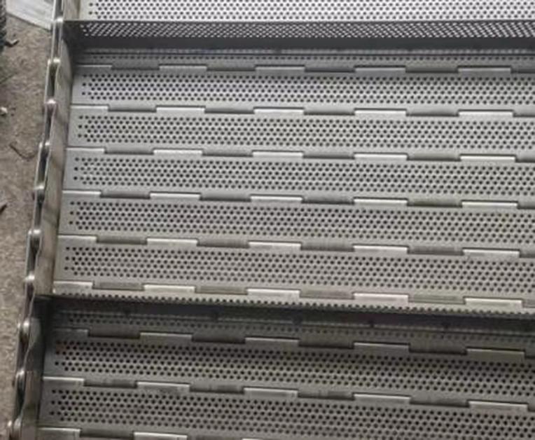 不锈钢挡边冲孔链板