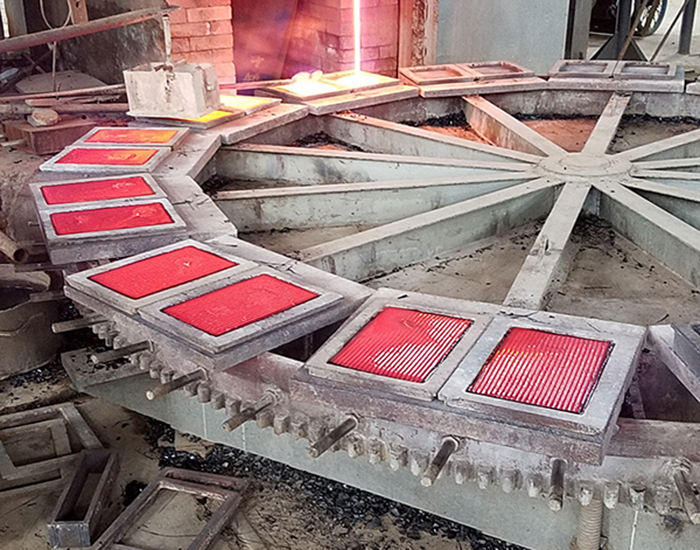 铸石板生产现场