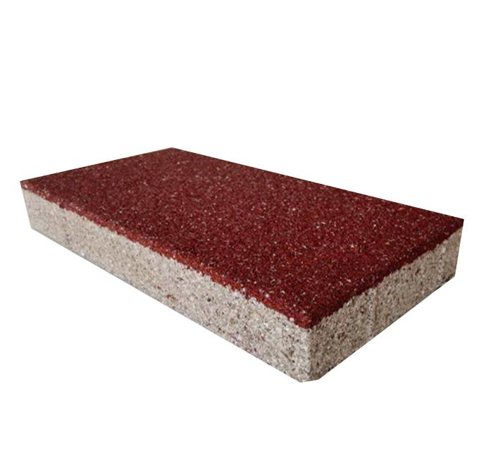 红色陶瓷透水砖