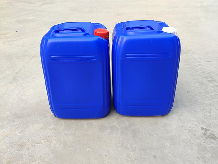 蓝色方形塑料桶