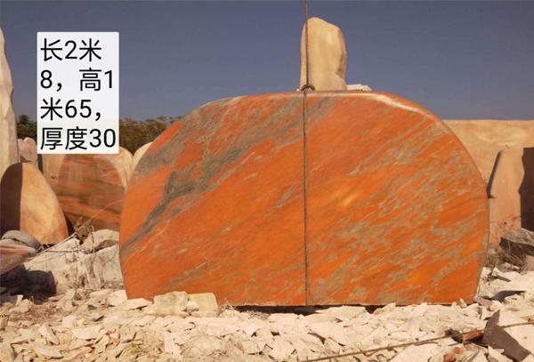 萍乡晚霞红景观石上面的杂质如何清理掉呢